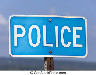 The Police Sign - The police sign on Honolulu city streets...