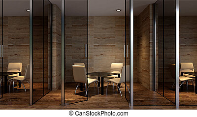 Office building in a new residential area. 3d rendering.