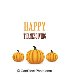 Thanksgiving Day card with pumpkins.