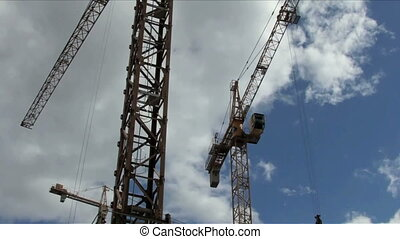 Working construction crane.