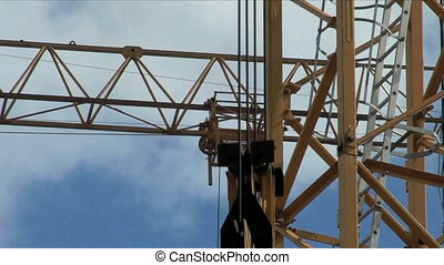 Working construction crane. - Working construction crane on...