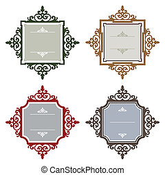 Retro styled frames - Vector frames collection with space...