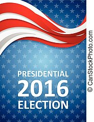 USA Presidential Election 2016 flyer template - USA...
