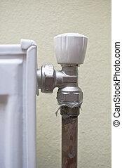 Radiator regulator - Corner of a domestic radiator, radiator...