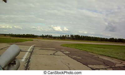 Runway in military airfield - View of runway in military...