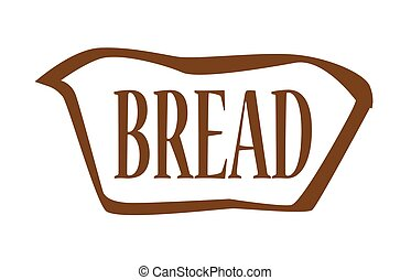 Bread Outline Icon - Brown bread outline silhouette icon...