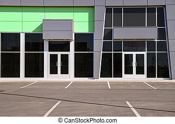 Unoccupied generic store front, business or professional...
