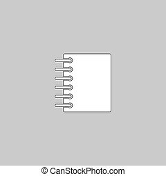 notepad computer symbol - notepad Simple line vector button....