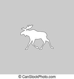 Moose computer symbol - Moose Simple line vector button....