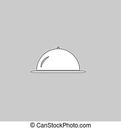 cloche computer symbol - cloche Simple line vector button....