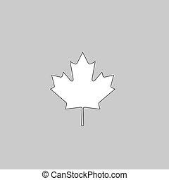 Canadian Leaf computer symbol - Canadian Leaf Simple line...