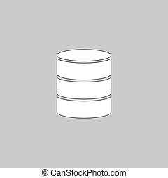 Database computer symbol - Database Simple line vector...