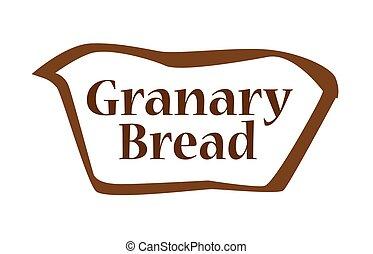 Granary Bread Outline shape - Bread outline silhouette icon...