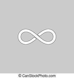 Infinity computer symbol - Infinity Simple line vector...