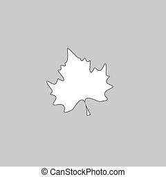 Maple Leaf computer symbol - Maple Leaf Simple line vector...