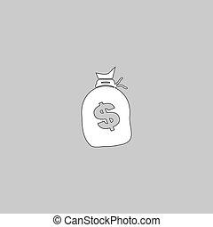 Money bag computer symbol