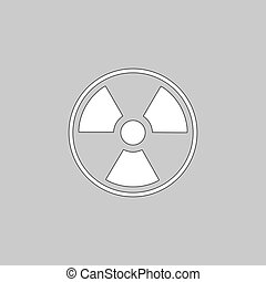 Radiation computer symbol - Radiation Simple line vector...