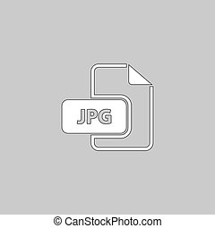 JPG computer symbol - JPG Simple line vector button. Thin...