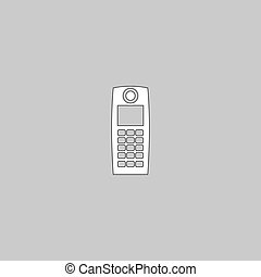walkie talkie computer symbol - walkie talkie Simple line...