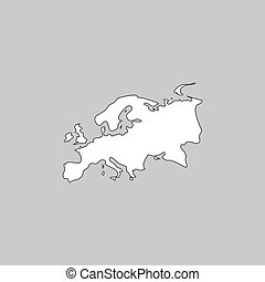 Eurasia computer symbol - Eurasia Simple line vector button...
