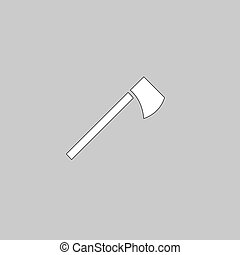 hatchet computer symbol - hatchet Simple line vector button....