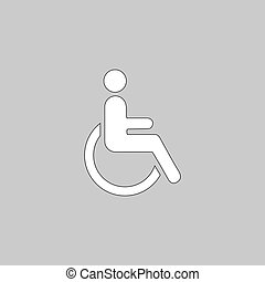 Disabled computer symbol - Disabled Simple line vector...