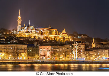 Night view of the Budapest, Hungary