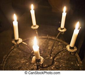 velas, candelabro