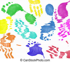 hand and foot prints background