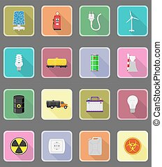 power and energy flat icons flat icons vector illustration -...