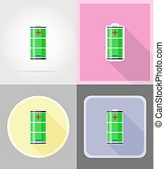 charge battery flat icons vector illustration