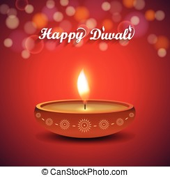Diwali poster on red background