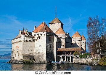 Chillon castle - The Chillon Castle (Chateau de Chillon) is...