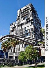 arquitectura edificios oficinas - moderna, construccion,...