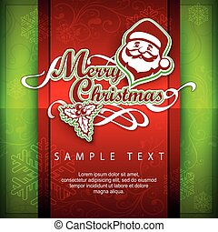 Mary Christmas poster. Text