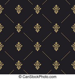 Seamless pattern decor with golden element