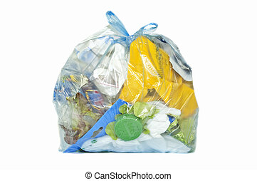 Rubbish bag isolated in white
