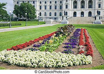 前部, 州, 花, 国会議事堂