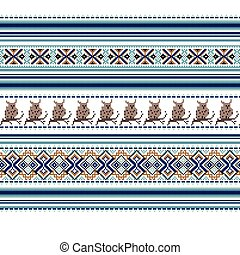 Set of Ethnic holiday ornament pattern in different colors....