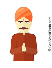 Indian Man Isolated on White Background. - Indian man...