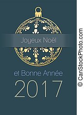 French Christmas and New Year 2017 background - French Merry...