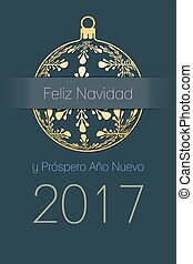 Spanish Christmas and New Year 2017 background - Spanish...