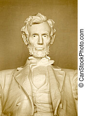 Lincoln Memorial - Statue of Abraham Lincoln, at lincoln...