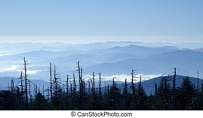Blue Ridge Mountains - Amazing Smoky Mountains panoramic...
