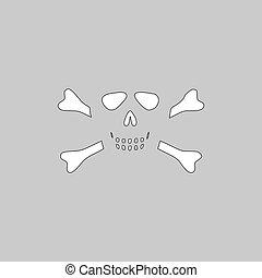 Skull crossbones computer symbol - Skull crossbones Simple...