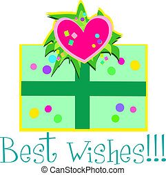 Best Wishes Gift - Here is a decorative Gift with a Best...
