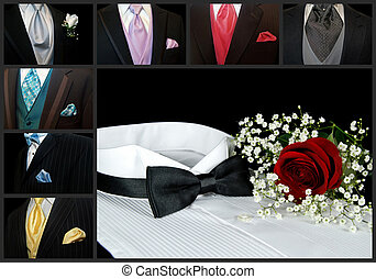 Classy Collage - Collage of a variety of tuxedos.
