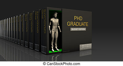 PHD Graduate Endless Supply of Labor in Job Market Concept