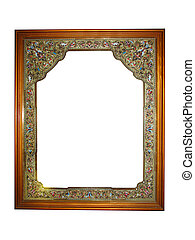Empty picture wooden frame