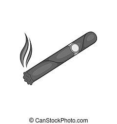 cigarro, icono, negro, Monocromo, estilo